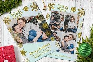 Christmas Postcard Template 5x7 V9