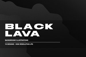 Black Lava - Background Illustration