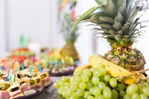 Fresh fruits on a table