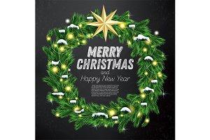 Christmas Wreath with Green Fir