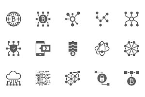 Blockchain Technology Icons