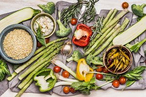 Ingredients for vegetarian cooking