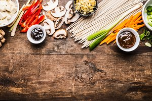 Asian vegetarian cooking ingredients