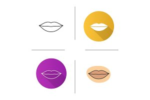 Woman's lips icon