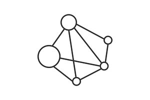 Global network linear icon