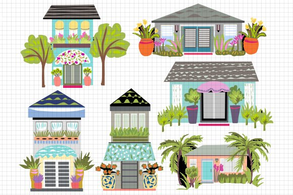 Houses Clip Art 6 ~ Illustrations ~ Creative Market
