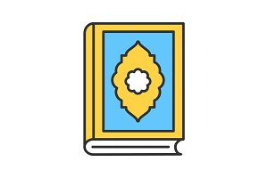 Quran book color icon