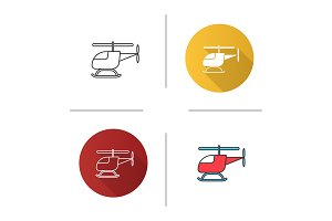 Toy helicopter icon