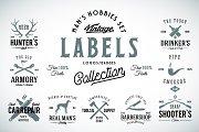 9 Vintage Labels for Men's Hobbies