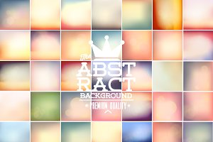 35 vector Bokeh Vintage Background