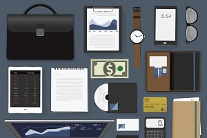 Gadgets of business vector