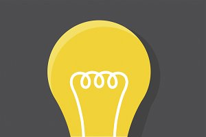 Icon graphic of lightbulb vector