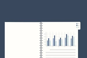 Financial book statistics vector