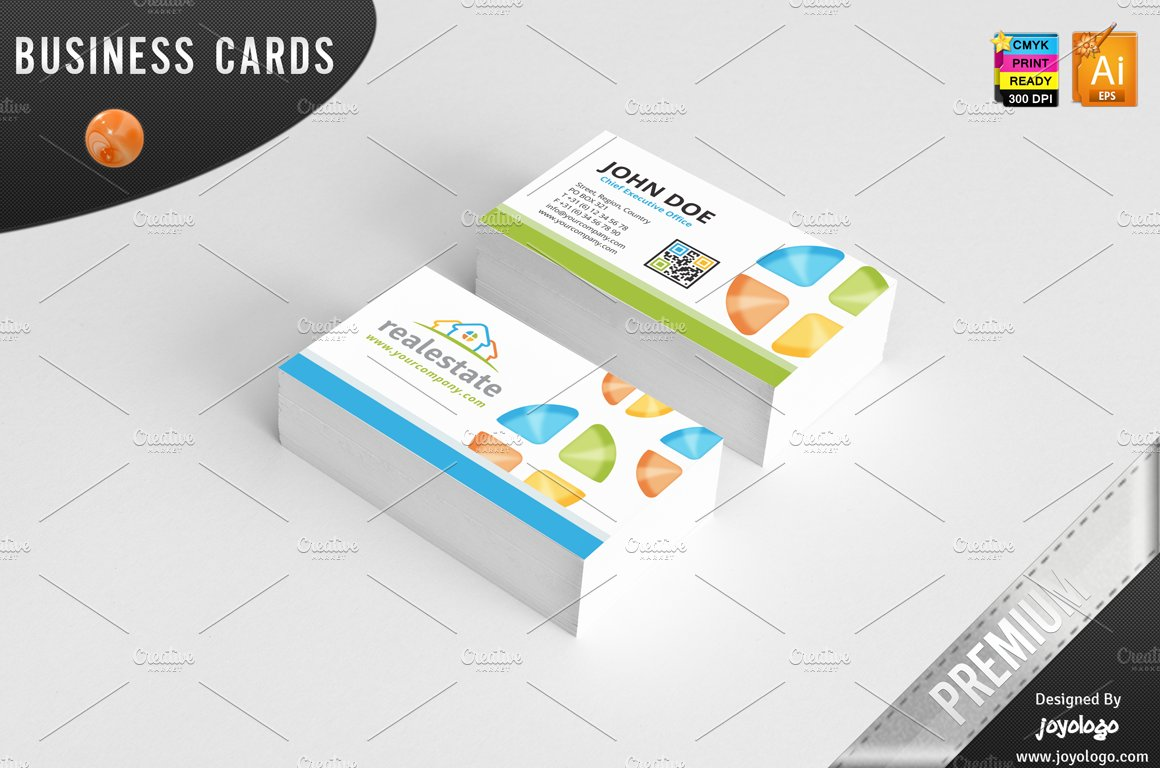 3d real estate business cards design business card templates 3d real estate business cards design business card templates creative market reheart Choice Image