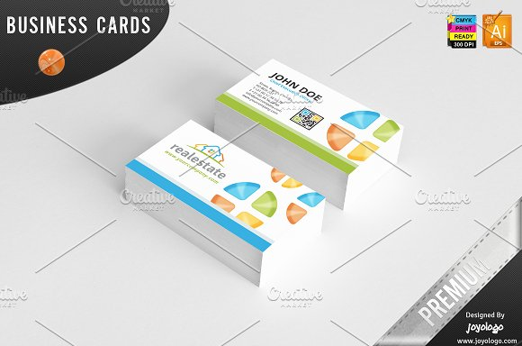 3d Real Estate Business Cards Design Business Card Templates
