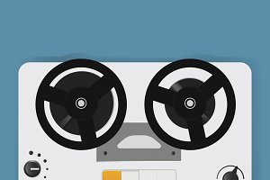 Reel Recorder Tape Player Icon