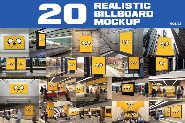 20 Outdoor Billboard Mockup Vol.2