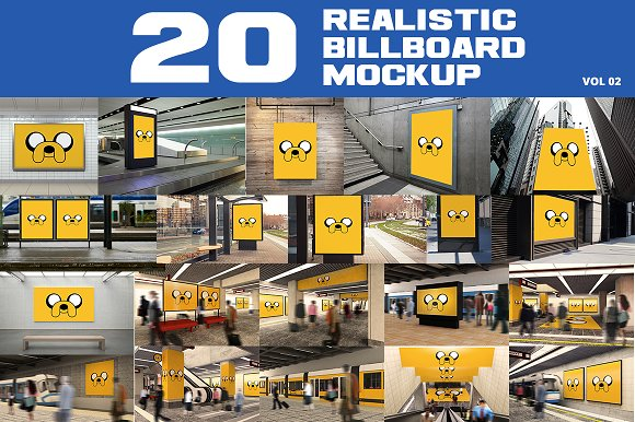 20 Outdoor Billboard Mockup-Graphicriver中文最全的素材分享平台