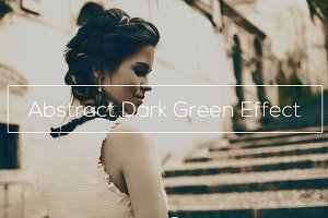 Abstract Dark Green Effect