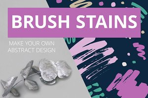Abstract brush stains