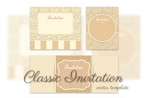 Vector Invitation template