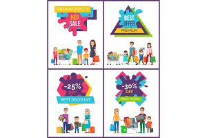 Best Discount -25% Off Sale Vector Illustration