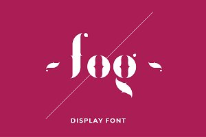 Fogtype display font