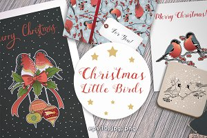 Christmas Little Birds