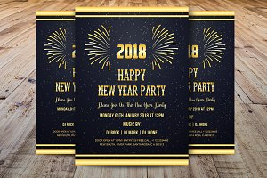 Happy New Year 2018 Invitations