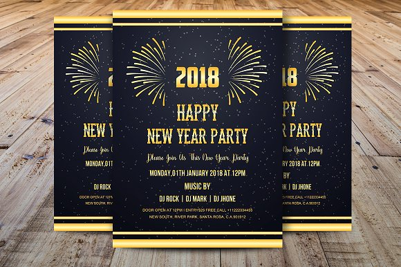 happy new year 2018 invitations invitations