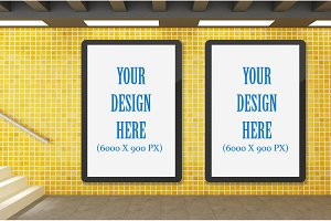 Subway Billboard advertising mockups