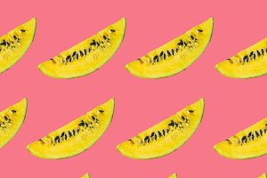 yellow watermelon slices