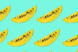 Pattern of yellow watermelon