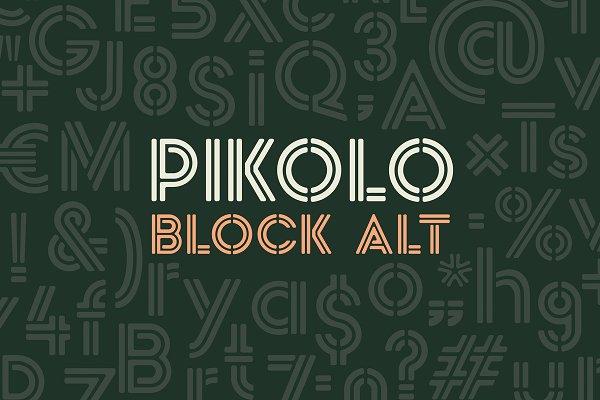 Pikolo Block Alt Font