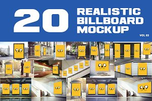 20 Outdoor Billboard Mockup Vol.3
