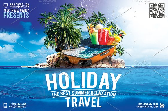 holiday travel flyer flyer templates creative market