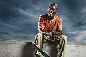 cool skate board guy