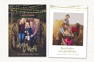 Christmas Card Template Merry CC150