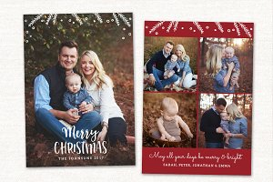 Christmas Card Template CC148