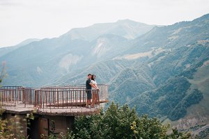 A couple standing on the view point