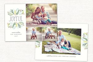 Christmas Card Template Joyful CC166