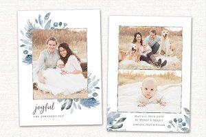 Christmas Card Template Joyful CC170