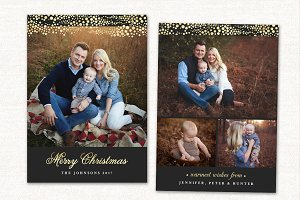 Christmas Card Template Merry CC146