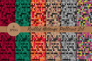 KNITTED melange patterns pack