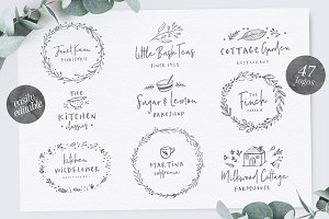 Poppit & Finch Fonts & Illustrations