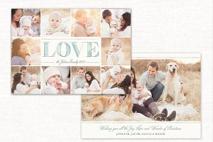 Holidays Card Template Love CC087