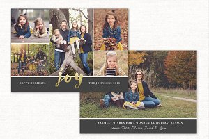 Christmas Card Template Joy CC117