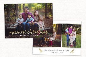 Christmas Card Template CC120