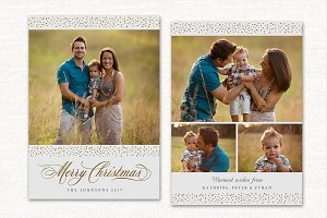 Christmas Card Template CC169