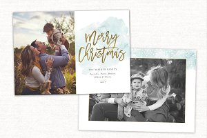 Christmas Card Template CC157